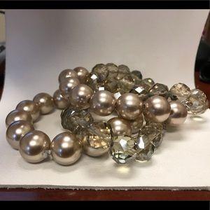 Set of 4 beaded bracelets....